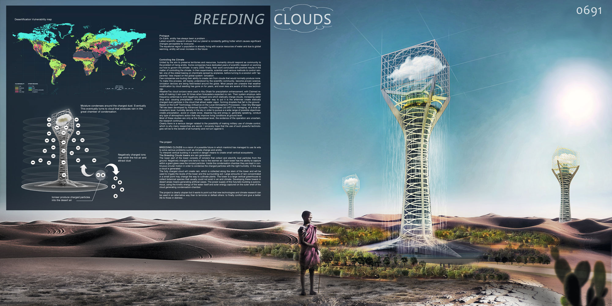 Breeding clouds. Skyscraper